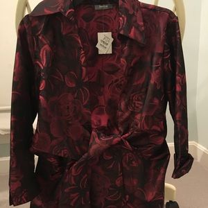 NWT Neiman Marcus Cocktail Jacket Christmas Colors